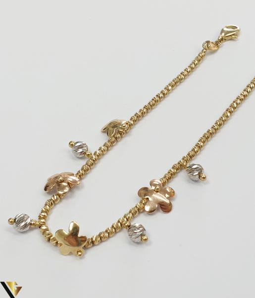 """Bratara din aur 14k, 585 4.99grame Latime de 2 mm Lungime totala de 19cm Marcaj cu titlul """"585"""" Locatie HARLAU 2"""