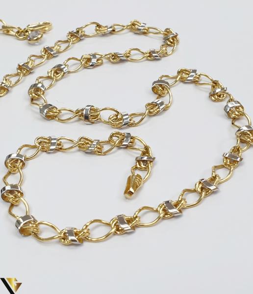 """Lant din aur 14k, 585 8.84 grame Lungime de 49cm Latime de 5 mm Marcaj cu titlul """"585"""" Locatie HARLAU [2]"""
