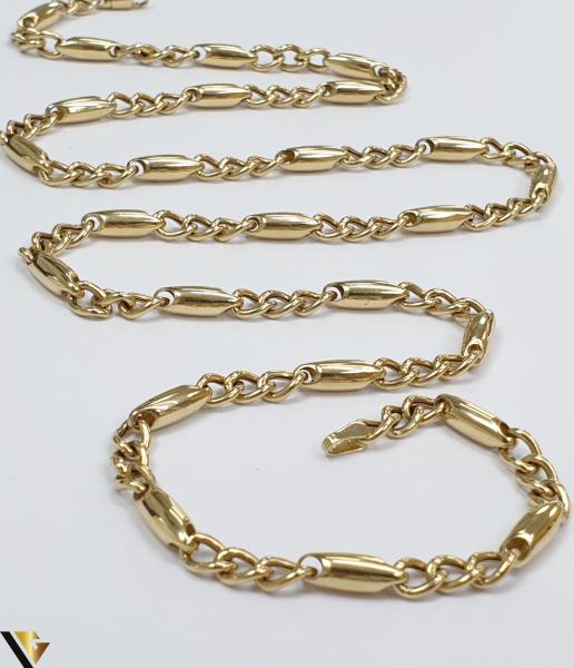 """Lant din aur 14k, 585 13.60 grame Lungime de 60 cm Latime de 4.5 mm Marcaj cu titlul """"585"""" Locatie HARLAU [2]"""