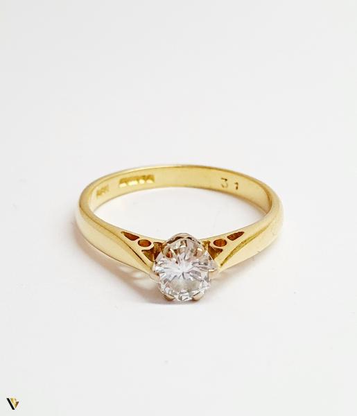 Inel Aur 18k, Diamant 0.31ct, 2.12 grame (BC M) 1
