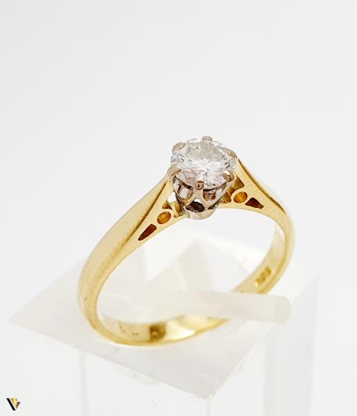 Inel Aur 18k, Diamant 0.31ct, 2.12 grame (BC M) 0
