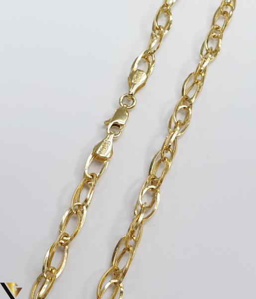 """Lant din aur 14k, 585 6.18 grame Lungime de 45 cm Latime de 4.5 mm Marcaj cu titlul """"585"""" Locatie HARLAU [1]"""