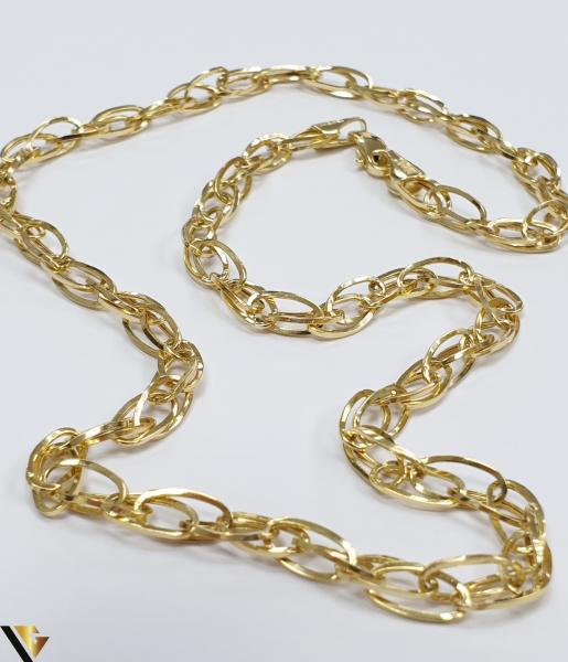 """Lant din aur 14k, 585 6.18 grame Lungime de 45 cm Latime de 4.5 mm Marcaj cu titlul """"585"""" Locatie HARLAU [2]"""