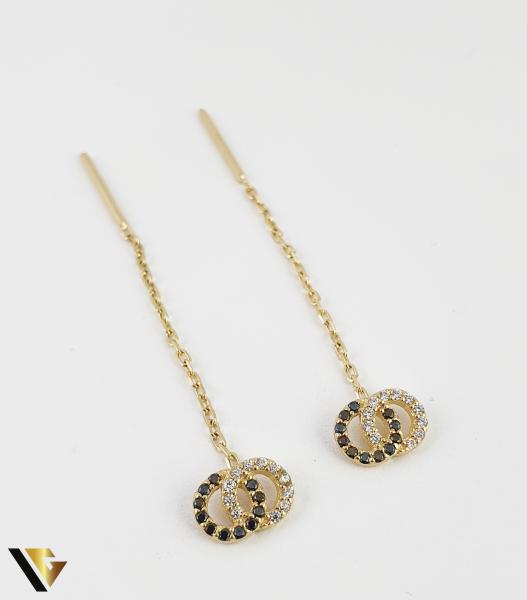Cercei cu lant, aur 14k, infinit, 1.85 grame (R) 0