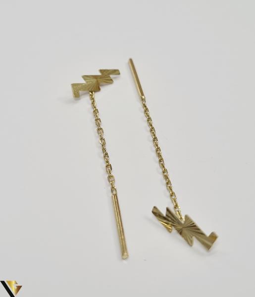 Cercei din aur  14k, 585 1.18grame Lungimea cerceilor 50mm Latimea cerceilor 3.5mm Marcaj cu titlul 585 Locatia HARLAU 0