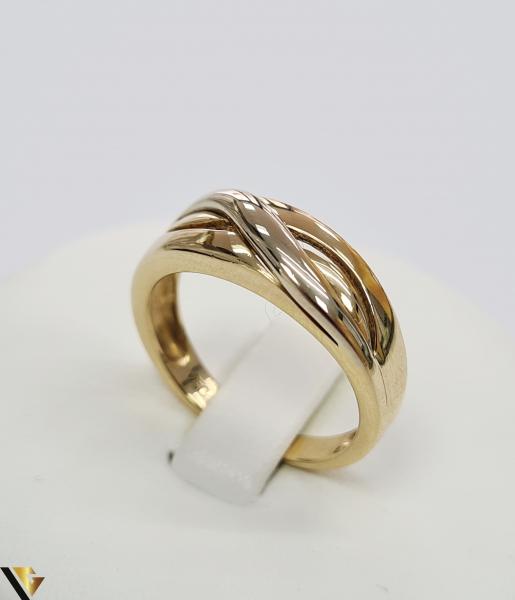 """Inel din aur 18k, 750 4.81grame Diametrul inelului este de 17.5mm (masura standard RO:55si UE:15) Latimea in partea superioara este de 7mm Marcaj cu titlul """"750"""" Locatie Harlau [0]"""