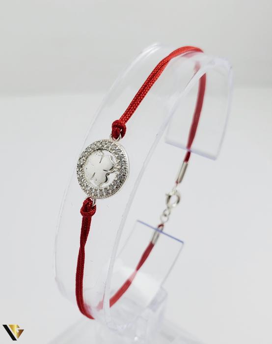 Bratara Argint 925, Snur textil, 1.32 grame (R) TRIFOI [0]