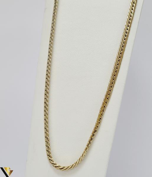 """Lant din aur alb 18k, 750 17.49 grame Lungime de 42 cm Latime de 5.3 mm Marcaj cu titlul """"750"""" Locatie HARLAU [0]"""