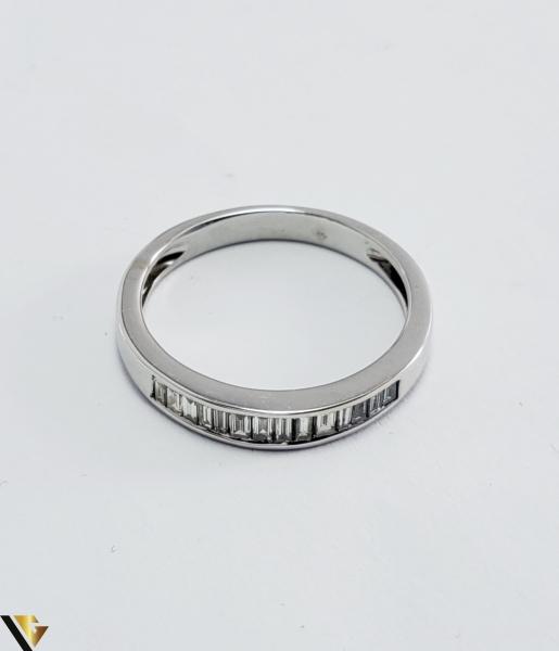 Inel Aur Alb 18k, Diamante bagheta cca 0.56ct, 2.55grame (PD) [2]