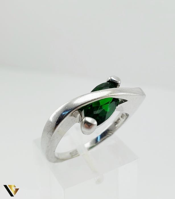 Inel Argint 925, 6.19 grame (R) verde [0]