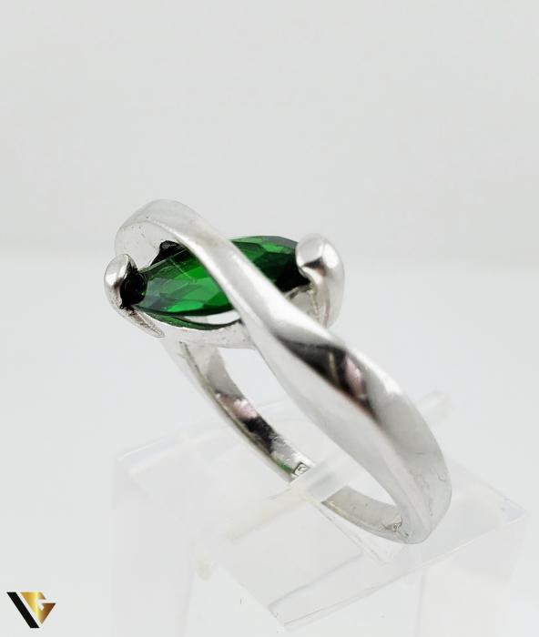 Inel Argint 925, 6.19 grame (R) verde [2]