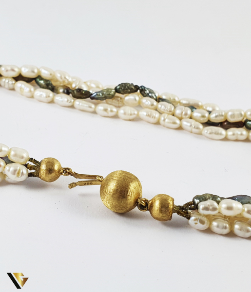 Colier Perle, Incuietoare Aur 18k (P) 2