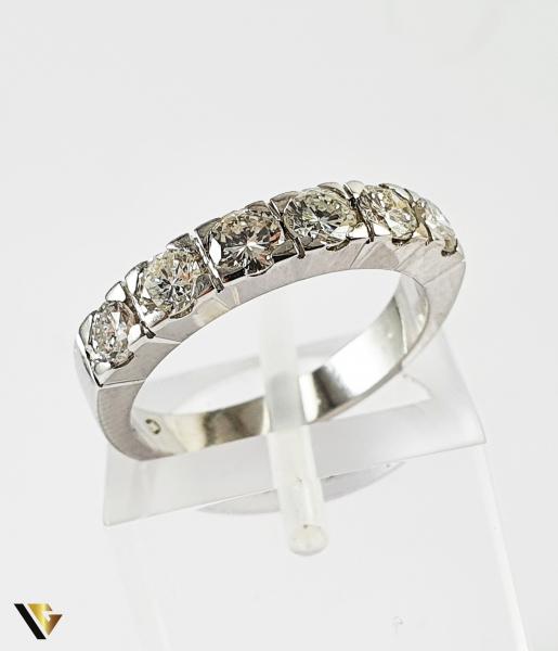 Inel Aur 18k, Diamante de cca. 1.40 ct in total, 4.16 grame (P) [0]