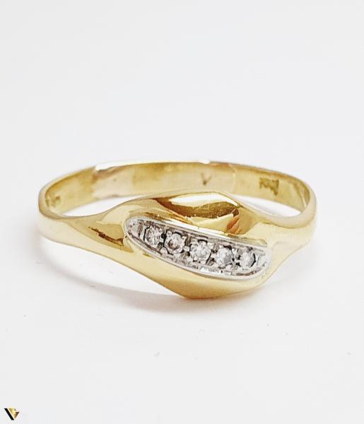 Inel cu diamante de cca. 0.05 ct, 18k, 3.31 grame (BC M) 1