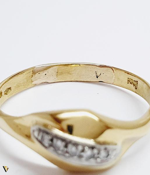 Inel cu diamante de cca. 0.05 ct, 18k, 3.31 grame (BC M) 2