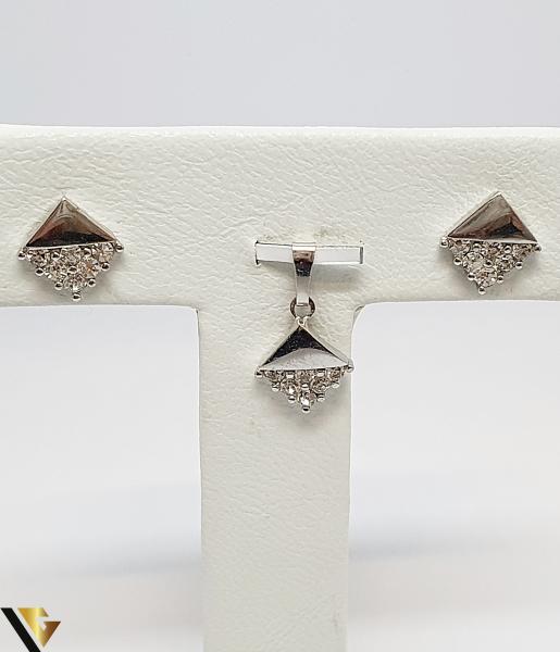 Set Pandantiv si Cercei Argint 925, 3.80 grame (IS) 0