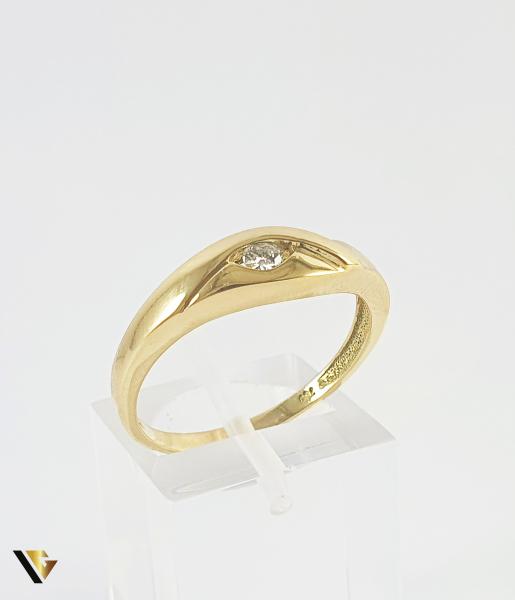 Inel Aur 18k, Diamant de cca. 0.08 ct, 3.42 grame (P) 0
