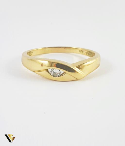 Inel Aur 18k, Diamant de cca. 0.08 ct, 3.42 grame (P) 1