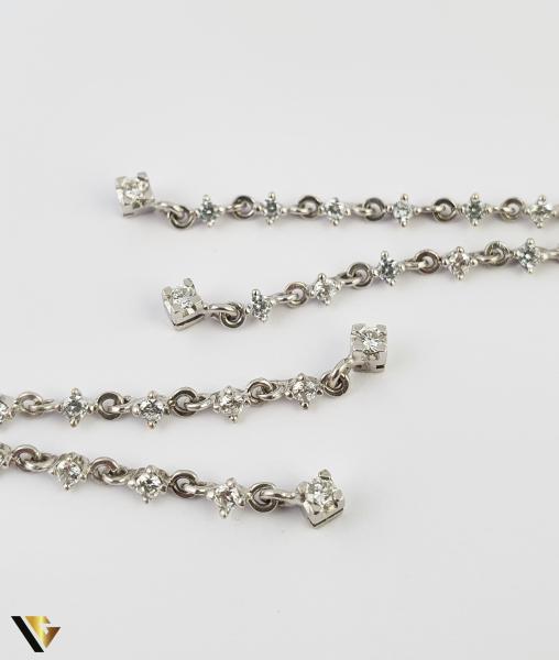 Cercei Aur 18k, Diamante cca. 0.20ct total, 7.90 grame (S) 1