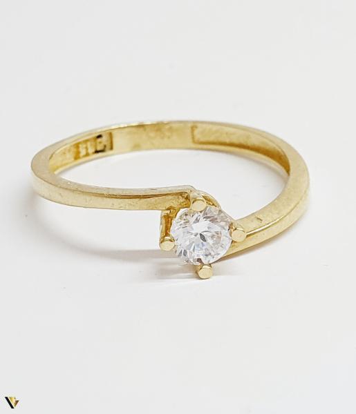 Inel din aur 14k, 1.67 grame (BC M) 2