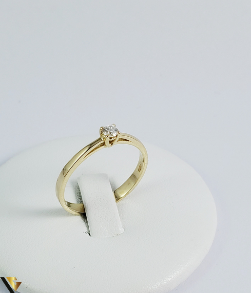 Inel logodna aur 14k, Diamant cca 0,10 ct, 2,02 gr (sed) [0]