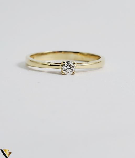Inel logodna aur 14k, Diamant cca 0,10 ct, 2,02 gr (sed) [1]