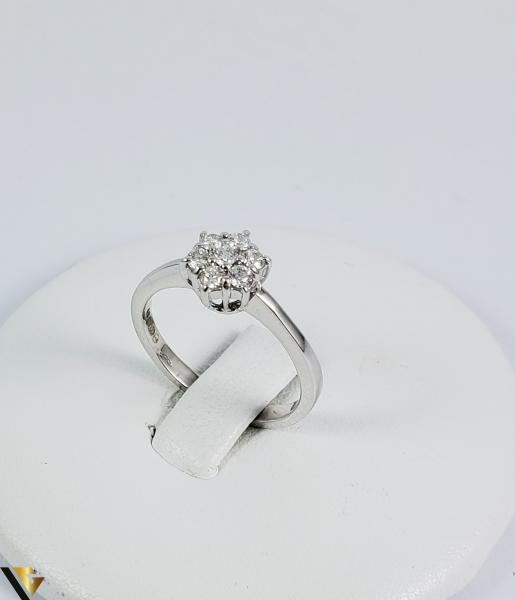 Inel aur 9k, Diamante cca 0,21 ct in total, 2,16 gr (sed) 0