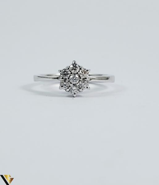 Inel aur 9k, Diamante cca 0,21 ct in total, 2,16 gr (sed) 1