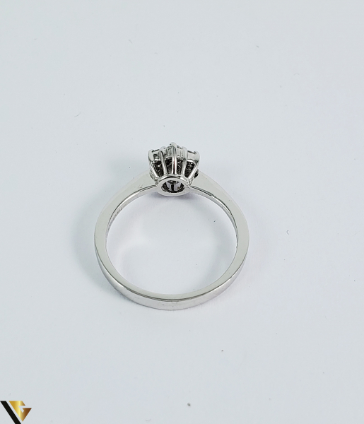 Inel aur 9k, Diamante cca 0,21 ct in total, 2,16 gr (sed) 2