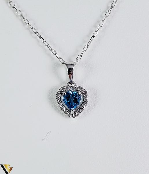 Pandantiv aur 9k, Diamante cca 0,05 ct in total, 0,85 gr (sed) [0]