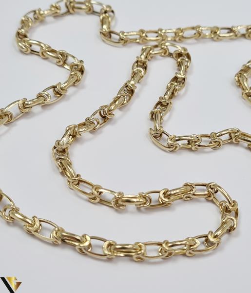 """Lant din aur 14k, 585 12.95 grame Lungime de 59 cm Latime de 5 mm Marcaj cu titlul """"585"""" Locatie HARLAU [2]"""
