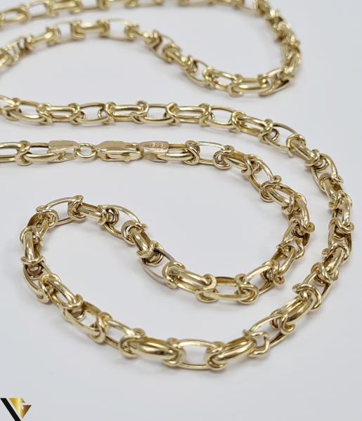 """Lant din aur 14k, 585 12.95 grame Lungime de 59 cm Latime de 5 mm Marcaj cu titlul """"585"""" Locatie HARLAU [1]"""