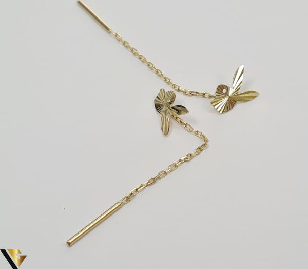 Cercei din aur  14k, 585 1.33grame Lungimea cerceilor 58mm Latimea cerceilor 6mm Marcaj cu titlul 585 Locatia HARLAU [2]
