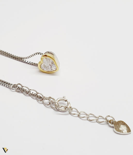 Set Argint Cercei, Pandantiv , Lant si Inel, 7.82 grame (BC M) [3]