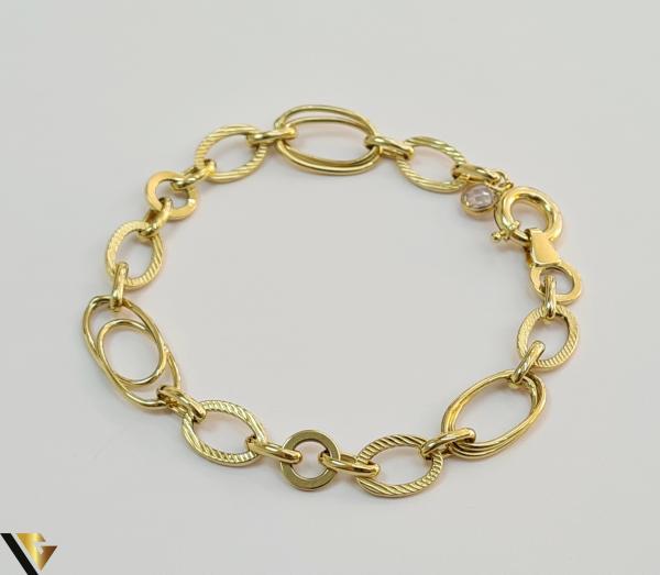 """Bratara din aur 14k, 585 4.66 grame Latime de 9.0 mm Lungime totala de 19.5 cm Marcaj cu titlul """"585"""" Locatie HARLAU 3"""