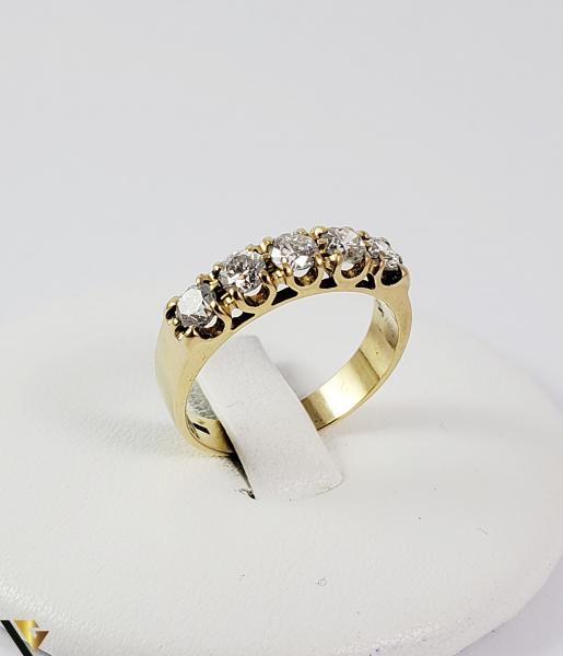 Inel aur 18 k, Diamante cca 0.75 ct in total, 4.12 gr (SED) [0]