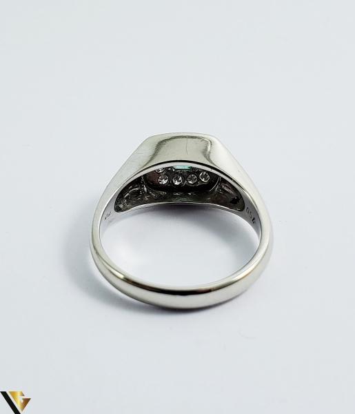 Inel Aur 18k, Diamante cca 0.18 ct in total, Smarald, 5.37 grame (Sed) 2