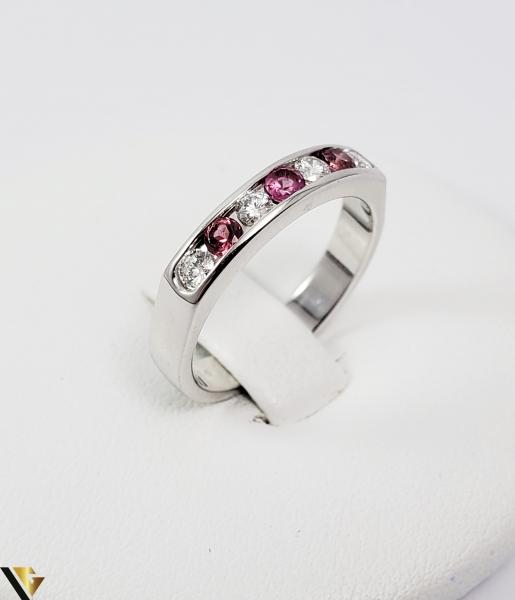 Inel Aur alb 14 k, Diamante cca 0.20 ct in total, 3.45 gr (SED) 0