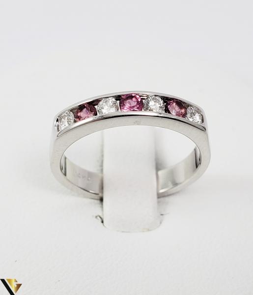 Inel Aur alb 14 k, Diamante cca 0.20 ct in total, 3.45 gr (SED) 1