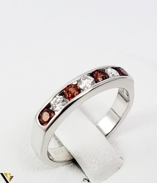 Inel Aur alb 14 k, Diamante cca 0.18 ct in total, 3.47 gr (SED) 1