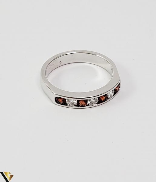 Inel Aur alb 14 k, Diamante cca 0.18 ct in total, 3.47 gr (SED) 2