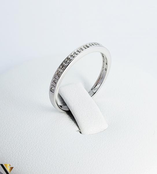 Inel Aur alb 9k, Diamante de cca. 0.08 ct, 1.41 grame (sed) [0]