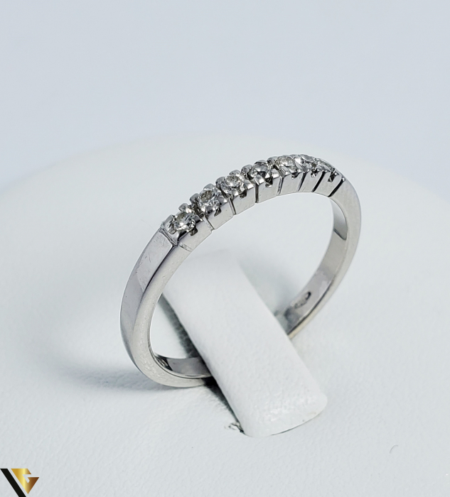 Inel Aur alb 18 k, Diamante cca 0.21 ct in total, 2.63 gr (R) 0