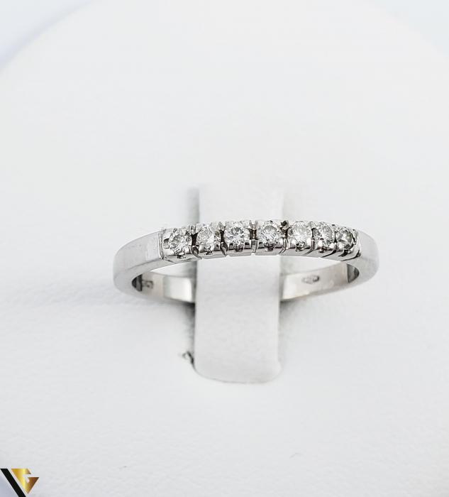Inel Aur alb 18 k, Diamante cca 0.21 ct in total, 2.63 gr (R) 1