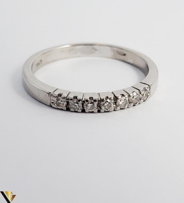 Inel Aur alb 18 k, Diamante cca 0.21 ct in total, 2.63 gr (R) 2