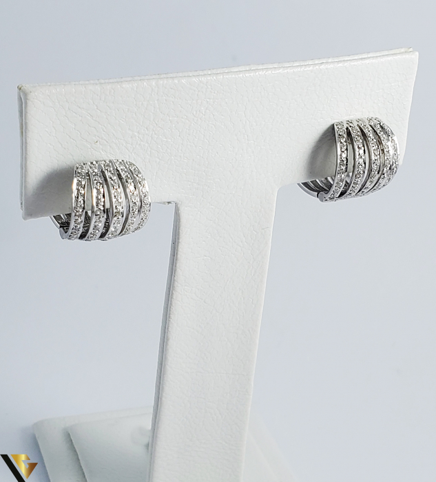 Cercei Aur alb 14 k, Diamante cca 0.63 ct in total, 10.91 gr (SED) [0]