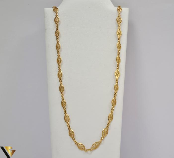 """Lant din aur 9k, 375 8.74 grame Lungime de 60 cm Latime de 5.2 mm Marcaj cu titlul """"375"""" Locatie HARLAU [0]"""