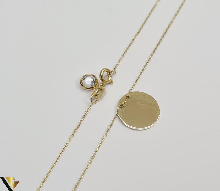 """Lant din aur 14k, 585 1.87 grame Lungime de 42 cm Dimensiunile pandativului 13mm/13mm Latime de 0.45 mm Marcaj cu titlul """"585"""" Locatie HARLAU [3]"""