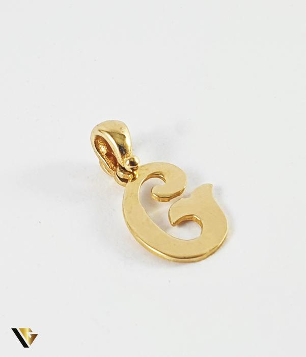 "Pandant Aur 14k, Litera ""G"", 0.65 grame (P) 0"
