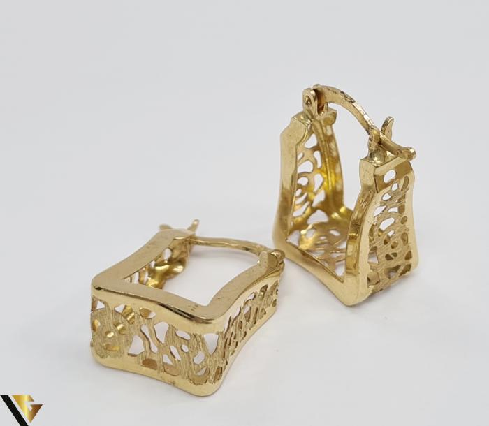 Cercei din aur  14k, 585 3.26grame Lungimea cerceilor 20mm Latimea cerceilor 8.0mm Marcaj cu titlul 585 Locatia HARLAU 3